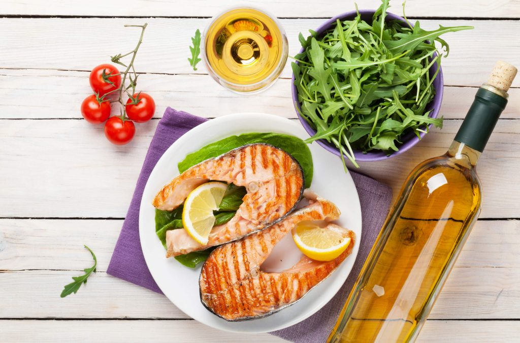 bigstock-grilled-salmon-and-white-wine-90320786-1